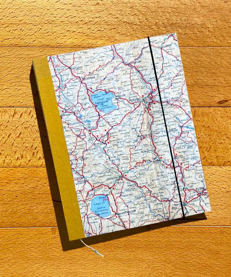 Cartina Giografica.Agenda Perpetua A5 Cartina Geografica Perugia Yuuy